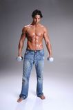 Muscular  Man Workout Royalty Free Stock Images
