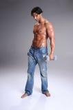 Muscular  Man Workout Stock Photography