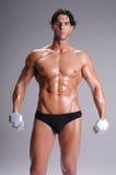 Muscular  Man Workout Stock Images