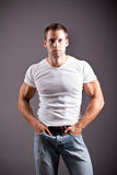 Muscular man Royalty Free Stock Photos