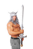 Muscular medieval warior. royalty free stock images
