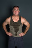 Muscular mid adult man Royalty Free Stock Photo