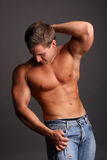 Muscular model Stock Photos