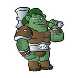 Muscular orc in armor. Royalty Free Stock Photos