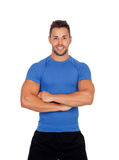 Muscular personal trainer Stock Images