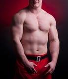 Muscular santa claus Royalty Free Stock Images