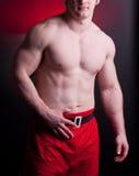 Muscular santa claus Stock Photography