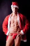 Muscular santa claus Royalty Free Stock Photo