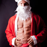 Muscular santa claus Royalty Free Stock Photography