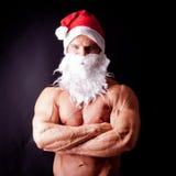 Muscular santa claus Royalty Free Stock Image