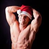 Muscular santa claus Royalty Free Stock Photos