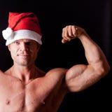 Muscular santa claus Royalty Free Stock Photography