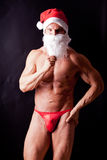Muscular santa claus Royalty Free Stock Image
