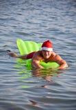 Muscular santa claus show Royalty Free Stock Photos