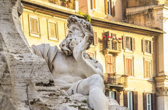 Muscular sculpture in Rome Royalty Free Stock Photos