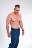 Muscular senior man Stock Images