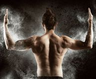 Muscular sexy back Royalty Free Stock Images