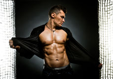 Muscular sexy guy Stock Image