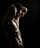 Muscular sexy guy Stock Images