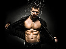 Muscular sexy guy Royalty Free Stock Photo