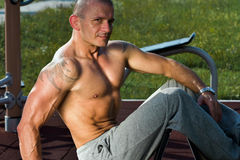 Muscular sexy man Stock Photography