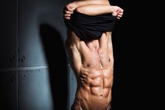 Muscular and sexy torso of young sport man Royalty Free Stock Image