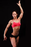 Muscular strong woman Stock Image