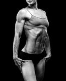 Muscular strong woman Royalty Free Stock Photos