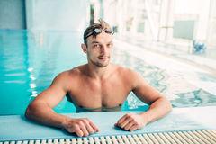 Muscular swimmer Stock Photo