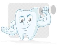 Muscular Tooth stock photo