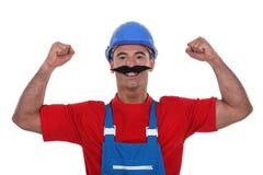 Muscular tradesman Royalty Free Stock Photos