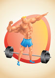 Muscular white guy posing in the gym Royalty Free Stock Images