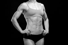 Muscular woman Stock Images