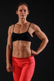 Muscular woman Stock Photography