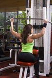 Muscular woman in the gym. Muscular woman is doing exercises in a fitness room / gym Stock Photo