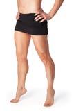 Muscular woman posing Stock Images