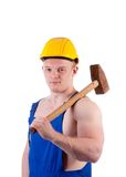 Muscular worker Royalty Free Stock Photos