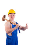 Muscular worker Royalty Free Stock Images