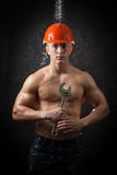Muscular worker Stock Images