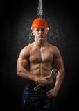 Muscular worker Stock Photography