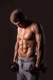 Muscular young bodybuilder man Stock Photo