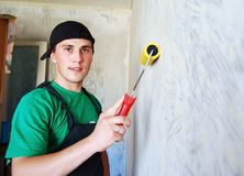 Muscular young builder. Stock Photography