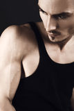 Muscular young fashion man Stock Photo