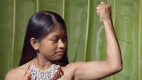 Muscular young girl