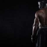 Muscular young male boxer Royalty Free Stock Photography