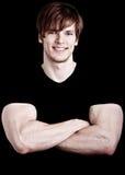 Muscular young man  Stock Photos