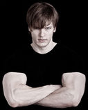 Muscular young man Royalty Free Stock Photos