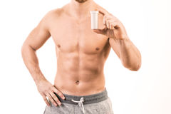 Muscular young man Stock Photo