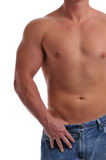 Muscular young man's torso Stock Photography