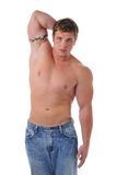 Muscular young man's torso Stock Photos